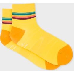 Men's Yellow 'Artist Stripe' Trim Cycling Socks found on Bargain Bro UK from Paul Smith Ltd