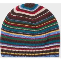 Men's Signature Stripe Wool-Cashmere Beanie Hat found on Bargain Bro UK from Paul Smith Ltd
