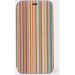 'Signature Stripe' Leather iPhone 11 Pro Wallet Case