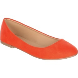 Womens Coral Red Ballet Flats found on Bargain Bro UK from peacocks.co.uk