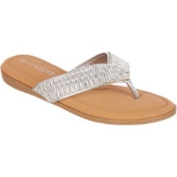 Womens Silver Diamante Sandals found on Bargain Bro UK from peacocks.co.uk