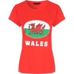 Womens Red Wales T-Shirt found on Bargain Bro UK from peacocks.co.uk