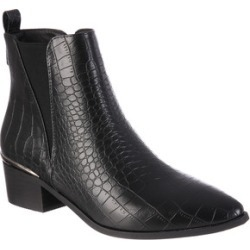 Womens Black Crocodile Effect Chelsea Boots found on Bargain Bro UK from peacocks.co.uk