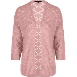 Womens Pink Crochet Cardigan found on Bargain Bro UK from peacocks.co.uk