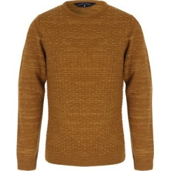 Mens Mustard Crew Neck Jumper found on MODAPINS from peacocks.co.uk for USD $22.54