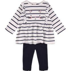 Baby Girl Cat T-Shirt and Legging Set