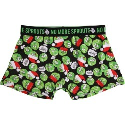 Mens Black Sprouts Novelty Boxers