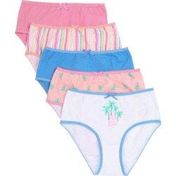 Older Girls 5pk Pink Palm Briefs found on Bargain Bro UK from peacocks.co.uk