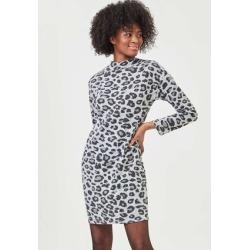 Womens Grey Cosy Animal Print Dress found on Bargain Bro UK from peacocks.co.uk