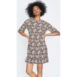 Womens Black and Pink Floral Dress found on Bargain Bro UK from peacocks.co.uk