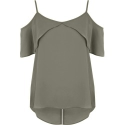 Womens Khaki Strappy Cold Shoulder Top found on Bargain Bro UK from peacocks.co.uk