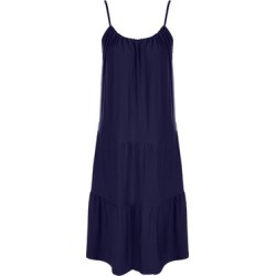 Womens Dark Blue Strappy Tiered Trapeze Midi Dress found on Bargain Bro UK from peacocks.co.uk