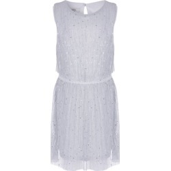 Younger Girls Silver Sparkle Plisse Dress found on Bargain Bro UK from peacocks.co.uk