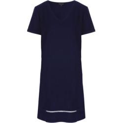 Womens Navy Linen Shift Dress found on Bargain Bro UK from peacocks.co.uk