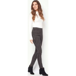 Womens Monochrome Check Trousers found on Bargain Bro UK from peacocks.co.uk