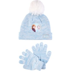 Younger Girls 2pc Blue Frozen 2 Hat and Gloves Set found on Bargain Bro UK from peacocks.co.uk