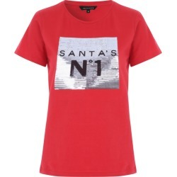 Womens Red Novelty T-Shirt found on Bargain Bro UK from peacocks.co.uk