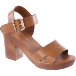 Womens Tan Heeled Clog Shoes found on Bargain Bro UK from peacocks.co.uk