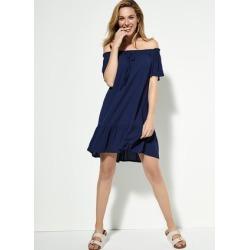 Womens Navy Bardot Dress found on Bargain Bro UK from peacocks.co.uk