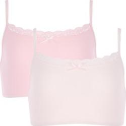 Older Girls 2pk Pale Pink Crop Tops found on Bargain Bro UK from peacocks.co.uk