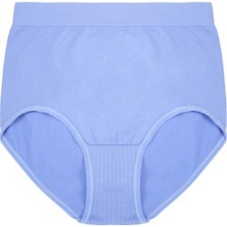 Womens Blue Seam Free High Leg Briefs found on Bargain Bro UK from peacocks.co.uk