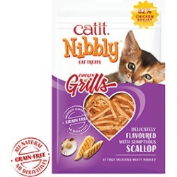 Catit Cat Treats Nibbly Grills Chicken And Scallop 30G found on Bargain Bro UK from Pets at Home