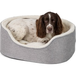 Pets At Home Linen Grey Oval Dog Bed Large found on Bargain Bro UK from Pets at Home