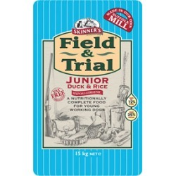 Skinner's Field And Trial Duck And Rice Hypoallergenic Junior Working Dog Food 15Kg