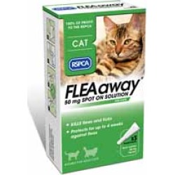 RSPCA FLEAaway 3 x 50mg Spot on Solution for Cats (Web Exclusive)