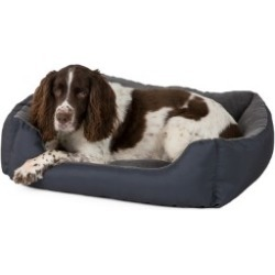 Pets At Home Fleece Square Dog Bed Charcoal Large found on Bargain Bro UK from Pets at Home