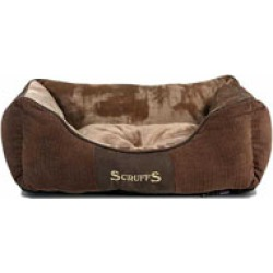 Scruffs Super Soft Luxurious Chester Dog Box Bed Chocolate Small found on Bargain Bro UK from Pets at Home
