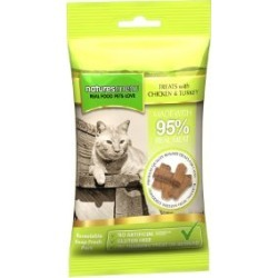 Natures Menu Real Meaty Cat Treats With Chicken With Turkey 60G found on Bargain Bro UK from Pets at Home