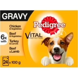Pedigree Adult Dog Food Pouches Mixed Selection In Gravy 24X100G