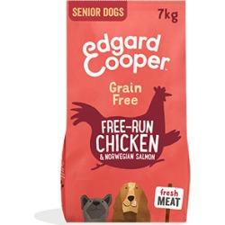 Edgardcooper Free-Run Fresh Chicken And Norwegian Salmon Senior Dog Food 7Kg