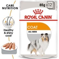 Royal Canin Canine Care Nutrition Coat Care Wet Pouches Dog Food 12 X 85G