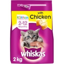 Whiskas 2-12 Months Kitten Complete Dry Cat Food With Chicken 2Kg