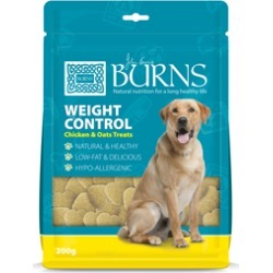Burns Weight Control Chicken And Oats Dog Treats 200G