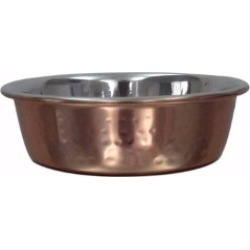 Pets At Home Anti Slip Hammered Copper Cat Feeding Bowl