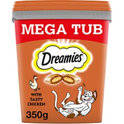 Dreamies Cat Treats With Chicken Mega Tub 350G found on Bargain Bro UK from Pets at Home