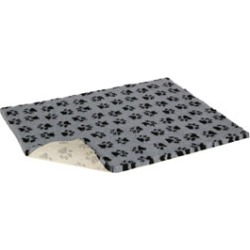 Vetbed Non-Slip Paw Print Cat/Small Dog Bed Grey 65X50Cm found on Bargain Bro UK from Pets at Home