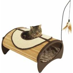 Jolly Moggy Bamboo Cat Pod found on Bargain Bro UK from Pets at Home