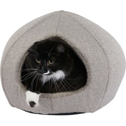 Pets At Home Linen Cat Cave Bed Grey found on Bargain Bro UK from Pets at Home