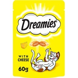 Dreamies Cat Treats With Cheese 60G found on Bargain Bro UK from Pets at Home