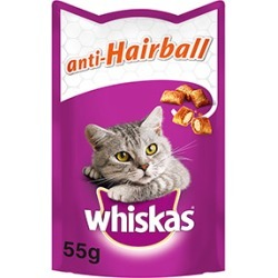 Whiskas Cat Treats Anti-Hairball 55G found on Bargain Bro UK from Pets at Home
