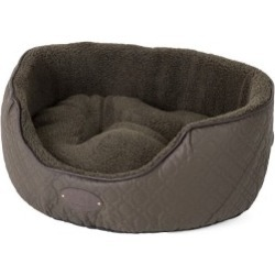 Wainwright's Quilted Oval Khaki Dog Bed Large found on Bargain Bro UK from Pets at Home