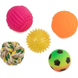 Pets At Home Mixed Ball Pack Dog Toy