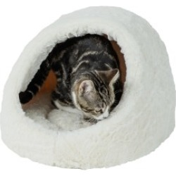 Baby Bea Cream Hooded Cat Bed found on Bargain Bro UK from Pets at Home