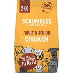 Scrumbles Gluten Free Complete Adult S/M Breed Dry Dog Food Chicken And Rice 2Kg