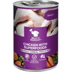Billy Margot Chicken With Superfoods Wet Dog Food Canned 395G