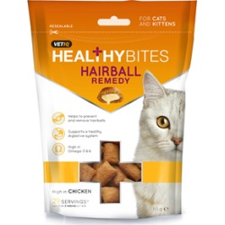 Vetiq Healthy Bites Hairball Remedy Cat And Kitten Treats 65G found on Bargain Bro UK from Pets at Home